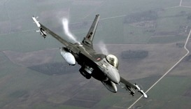 US F-16 crashes over western Germany