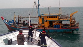 Indonesian navy impounds Chinese trawler for illegal fishing