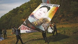 Activists launch balloons with 300,000 anti-N Korea leaflets