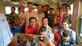 Cambodian passenger train back on track after years of suspension