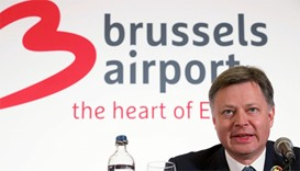 Brussels Airport CEO Arnaud Feist gives a press conference regarding the reopening of Brussels Airpo