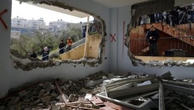 Israeli forces demolishing the family homes of attackers