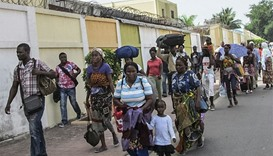 Residents of the southern districts of Brazzaville flee clashes between Congolese security forces an