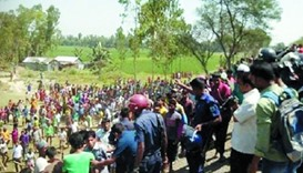 Around 500 villagers had gathered in Gandamara, a remote coastal town