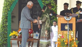 Mehbooba takes charge as the first  woman CM of Kashmir