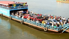 A Cambodian river ferry