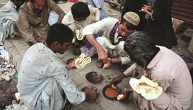 One third of Pakistanis live below poverty line