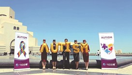 Qatar Airways supports  Autism Awareness Day