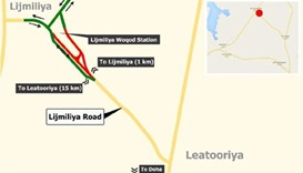 Traffic diversion on Lijmiliya Road for two months