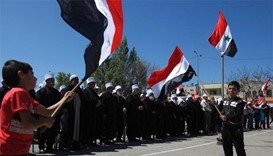 Golan Druze march for Syrian independence day