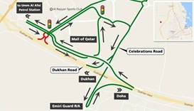 Signalised intersection to open near Mall of Qatar