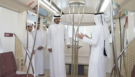 Emir visits Doha Metro project in West Bay