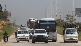 Evacuations from Syrian towns end after two-day halt