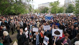 Thousands of Hungarians rally to mock PM Orban