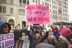 Healthcare activists at Trump tower