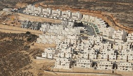 Jewish settlements in West Bank.
