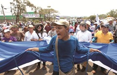 Nicaragua police stop protest against canal