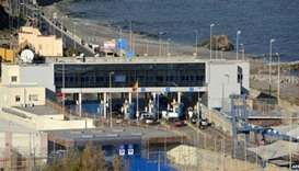 A Morocco-Spain border crossing at Ceuta