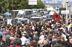 Albania opposition blocks roads in call for PM to quit