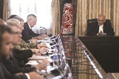 Afghan defence chiefs quit over attack as Mattis flies in