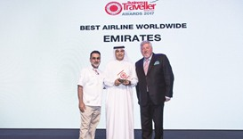 Emirates named Best Airline Worldwide in sweep of four awards