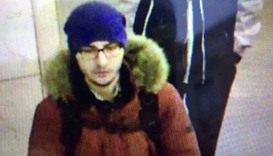 A still image of  bombing suspect Akbarzhon Jalilov walking at St Petersburg's metro station