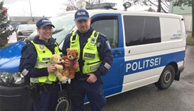 Estonia police put teddy bears on patrol