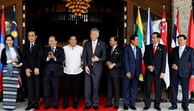 Southeast Asian leaders during the ASEAN summit in Manila