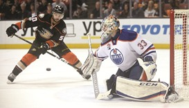 Talbot stars in Oilers win over Ducks