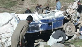 Eleven killed after van plunges into ravine in Pakistan