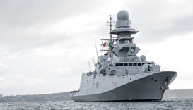 Italian frigate Carabiniere returns to Hamad Port