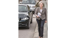 Prime Minister Theresa May goes door-to-door campaigning for Andrew Bowie, Conservative candidate fo