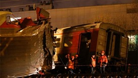 Twelve hospitalised after trains collide in Moscow