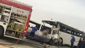 Bus collision Kuwait