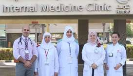 Dr Nasseer Masoodi with members of the team that is spearheading the initiative to help diabetics co