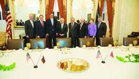 Emir meets US leaders, discusses bilateral ties