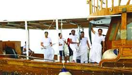 Traditional welcome awaits returning Senyar fishermen