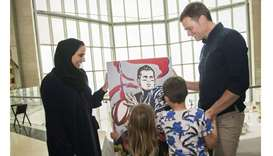 Tom Brady tours Museum of Islamic Art