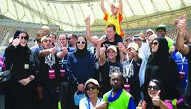 Tom Brady joins PWDs in a sports event in Doha
