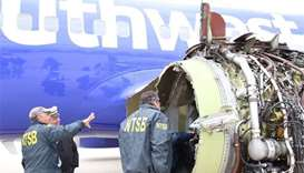 US inspectors probe deadly Southwest jet engine explosion