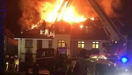 Woman dies in fire at care home in London