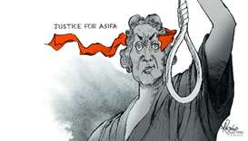 Justice for Asifa - cartoon