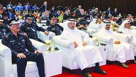 HE the PM and Minister of Interior Sheikh Abdullah bin Nasser bin Khalifa al-Thani attending the ope