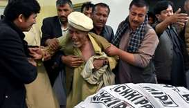 A father of a member of Hazara community, who was killed by unidentified gunmen, mourns the death of