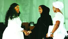 Sheikha Hind welcomes Sierra Leone first lady