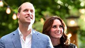 Britain's Prince William, the Duke of Cambridge and his wife Princess Kate (file photo)