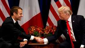 Trump meets with French President Macron (file photo)