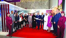 Qatar Airways is participating in the three-day Moushtarayat exhibition.