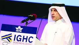 Akbar al-Baker speaking at the 31st annual IATA Ground Handling Conference
