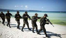 Philippine police hold riot drills as Boracay closure challenged